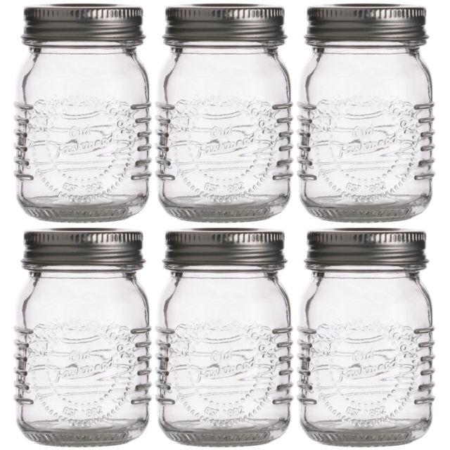 promobo pr sentoir lot 6 bocaux pot en verre inscription. Black Bedroom Furniture Sets. Home Design Ideas