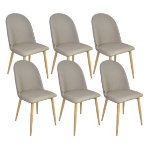 Zons aya lot de 6 chaises taupe 45 5x47xh87 5cm pas for Chaise zons