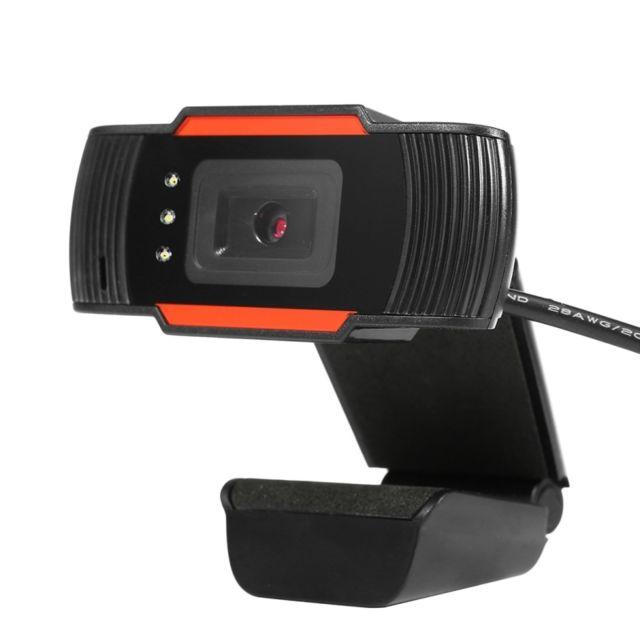 Wewoo 12,0MP Hd Webcam Usb Plug Caméra Web avec microphone à absorption sonore & 3 Led, longueur du câble: 1,4 m 12,0MP Hd Webcam Usb Plug Caméra Web avec microphone à absorption sonore et 3 Led, longueur du câble: 1,4 m 1.apparence exquise.2.Haute défini