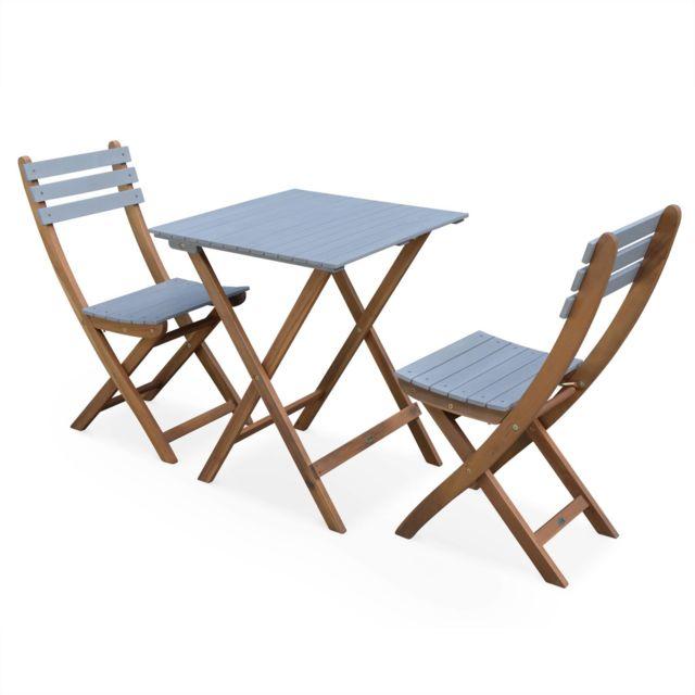 ALICE\'S GARDEN - Table de jardin en bois 60x60cm - Barcelona Bois ...