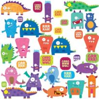 Thedecofactory - Roommates Stickers Muraux Repositionnables Enfant Monstres