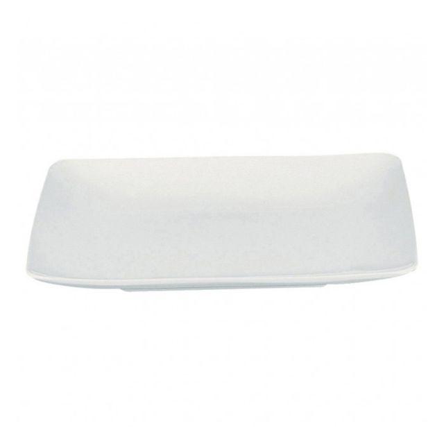 Guy Degrenne Assiette creuse carrée 20cm blanche - A l'unité - Modulo