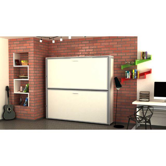 Openbed Lit escamotable superposés TWIN, Blanc 90x200cm