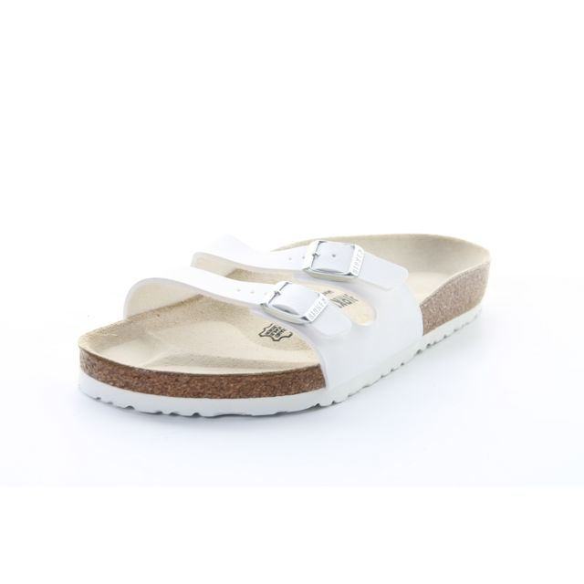 Birkenstock - Sandale Tong Claquette Femme Ibiza Blanc - NC - pas cher Achat    Vente Sandales et tongs femme - RueDuCommerce ae75b884a443