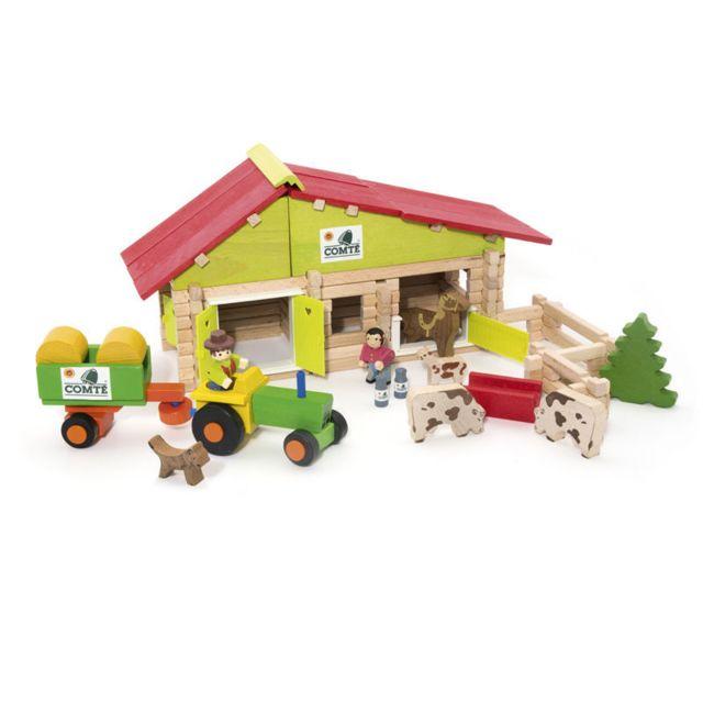 JEUJURA Ferme avec tracteur et animaux 140 pièces