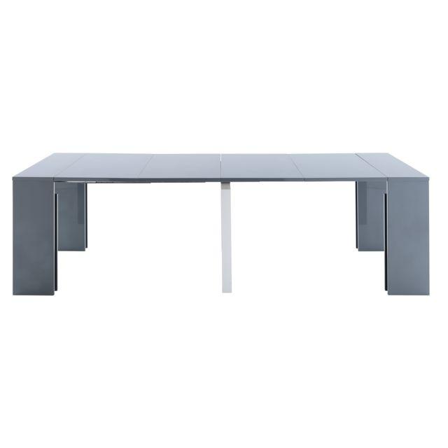 8cc2d6962bace2 Kit A Faire - Table Console 50 200 Cm Gris Laque - pas cher Achat ...