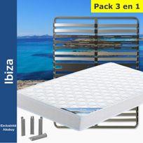 Altobuy - Ibiza - Pack Matelas + AltoZone 140x190 + Pieds