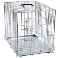 Flamingo - Cage pour chien métallique 2 portes L 93 cm x l 57 cm x H 62 cm