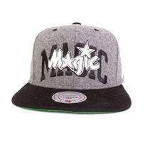 Mitchell And Ness - Casquette Snapback Mitchell & Ness Magic Allwhite gris- noir