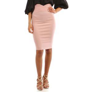 Lamodeuse - Jupe crayon rose taille haute