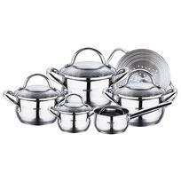 Bergner - Gourmet - Sets de poêles et casseroles Acier inoxydable Avec Couvercle Bon pour linduction