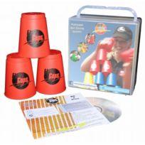 FlashCups Deutschl. GmbH - Speed Stacking: Flashcups 12 Stk Rot, Mit Lunchbox+DV