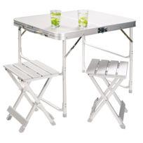 Grand Canyon - Set table pliable - Table pliable pour 2 - blanc