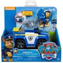 Chase Et Sa Voiture De Police Avec Lance Drone Vehicule Figurine Chien Paw Patrol