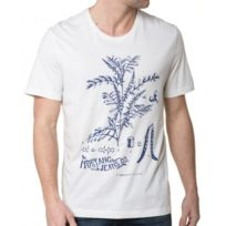 Mustang - Tee-Shirt Blanc Homme Col Rond