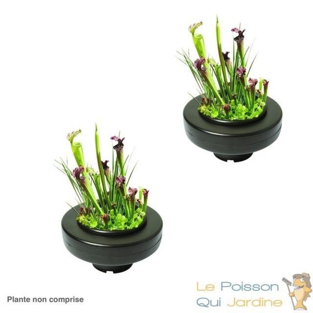Le Poisson Qui Jardine 2 X Panier flottant 30 cm de diamètre pour plantes de bassins de jardin et étangs