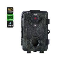 Auto-hightech - Caméra de chasse 1080p - Capteur Pir de 25m, vision nocturne 20m, étanche Ip66, images 12MP, autonomie 6 mois, vidéo Full Hd
