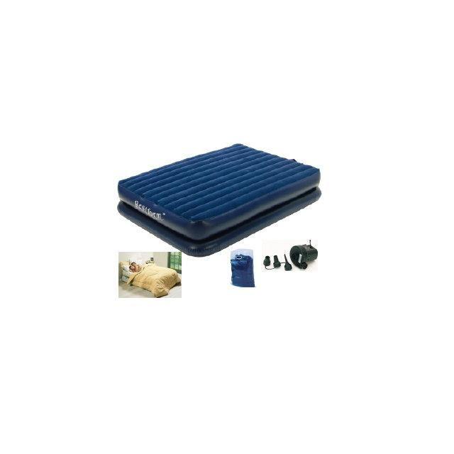 Restform Lit Gonflable Super Confort 1 place, + Pompe Electrique