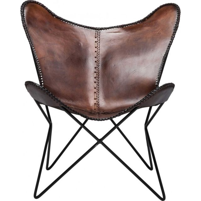 karedesign fauteuil papillon butterfly marron eco kare. Black Bedroom Furniture Sets. Home Design Ideas