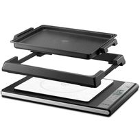 RIVIERA & BAR - plancha induction combiné 1400w 35x27cm - qc860a