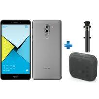 HONOR - 6X Grey + Perche à Selfie filaire pour smartphone iOs et Android - Noire + Enceintes bluetooth M-312 Muse Noir
