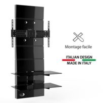 Meliconi - Ghost Design 3000 noir Meuble Tv support fixe 32 a 63