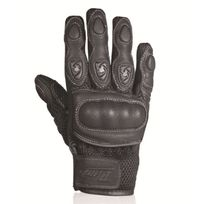 Chaft - gants Spy Kid cuir & textile moto scooter été enfant Racing noir Epi