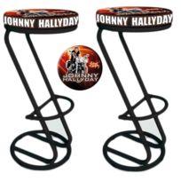 Sudtrading - 2 Assises de comptoir Johnny Hallyday