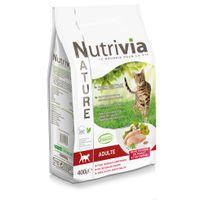 Nutrivia - Nature - Croquettes à la Dinde Poulet et Canard pour Chat Adulte - 400g