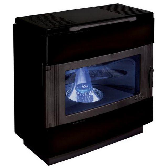 GODIN poêle à fioul 8kw noir brillant - 3807nb