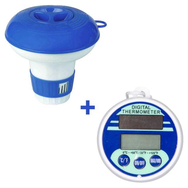Jilong - Diffuseur de chlore + thermomètre digital