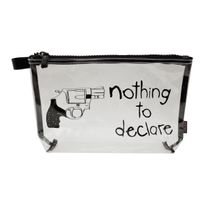 Incidence - Trousse Avion Transparente - Nothing to declare - Noir