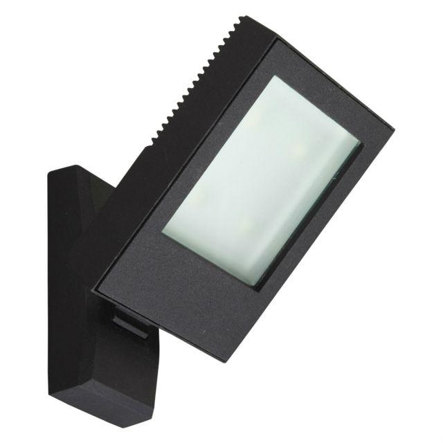 Lumihome - Jade - Applique d extérieur orientable Led Noir H19cm -  Luminaire d extérieur designé par - pas cher Achat   Vente Applique, ... 283ebba8af45