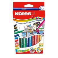 Kores - Feutre Coloriage Korello Etui De 10 Pte Fine Assortis Fs29011
