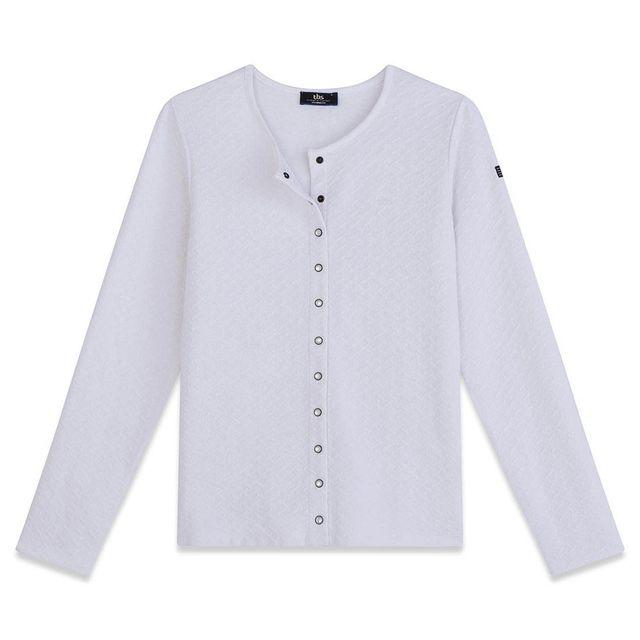 b199f9e40bf85 Tbs - Veste Vest Dragil Blanc Veste - Manteau Femme Vêtements - pas ...