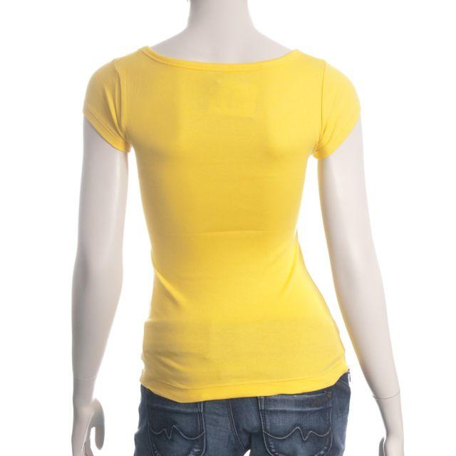 Us Marshall T shirt Femme Ft300 Couleur jaune pas cher