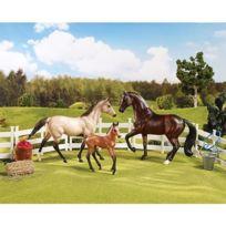 Breyer - 61061 - Figurine - Animal - Coffret De 2 Chevaux Et 1 Poulain - Accessoires Sport Family