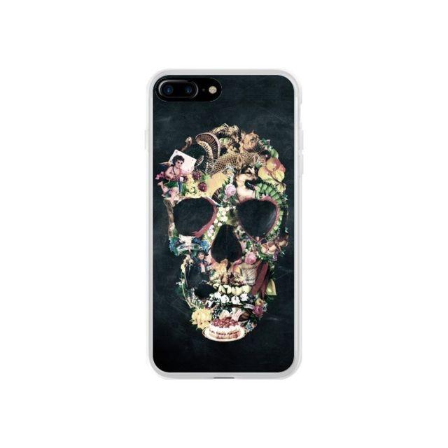 coque iphone 7 plus et 8 plus skull vintage tete de mort ali gulec
