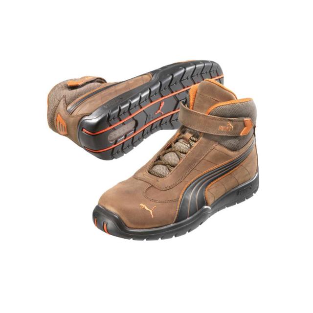 Puma Chaussures de sécurité cuir marron Motorsport 63218