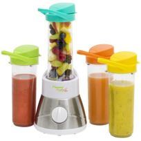 BESTRON - Smoothie: Blender - fruits entier mixés et pur jus de fruits - avec 4 becs - 400W
