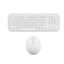 Yp Select Mini clavier et souris sans fil ensemble clavier et souris Bluetooth rond blanc