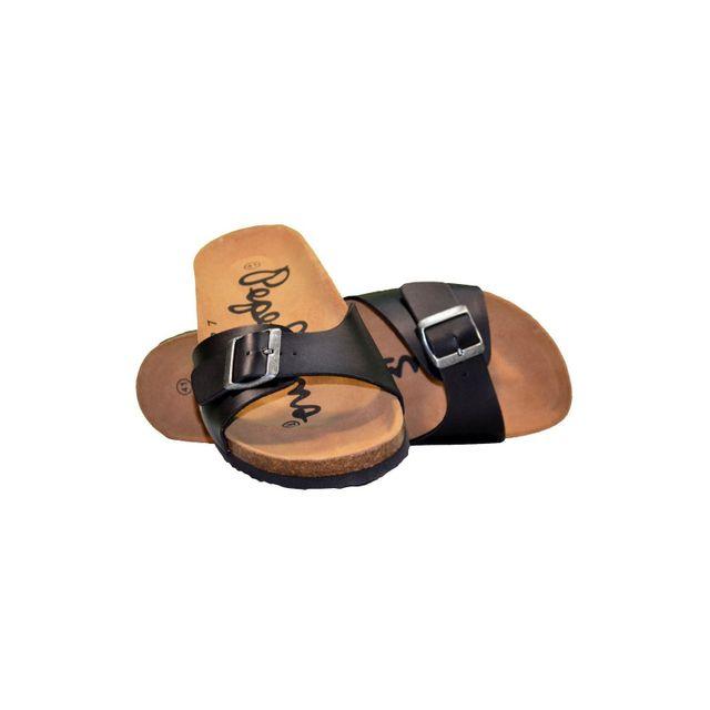 6892e6235234 Pepe Jeans - Claquettes - Homme - Bim - Noir - pas cher Achat   Vente  Sandales et tongs homme - RueDuCommerce