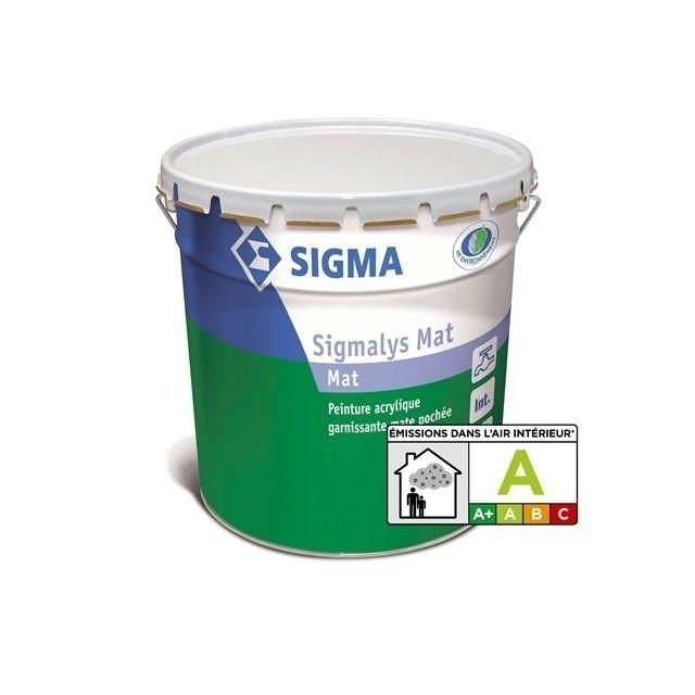 sigma peinture acrylique mate poch e sigmalys mat 3l 13641 pas cher achat vente peinture. Black Bedroom Furniture Sets. Home Design Ideas