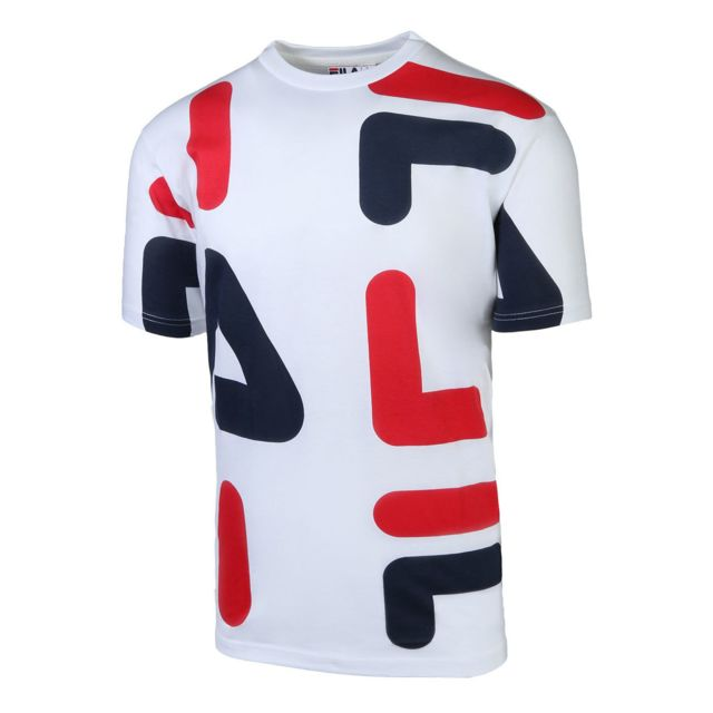 new styles 0dbce 0ec05 Fila - T-shirt Bennet Letter - pas cher Achat / Vente Tee ...
