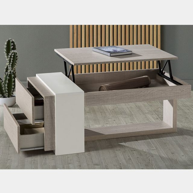 couleur modulable moderne Table Antibes bois basse 0XwN8nOPk