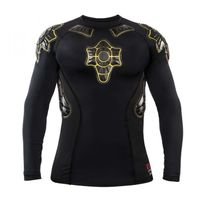 G-form - Maillot Pro-X Long Sleeve Compression Shirt Black-Jaune Taille L