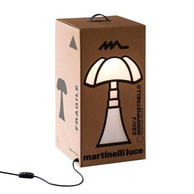 Martinelli Luce Mini Pipistrello Carton-lampe à poser Carton Mini Pipistrello H62cm Marron