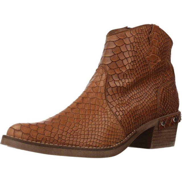 Nemonic Boots, bottines et bottes femme 2104N , Marron