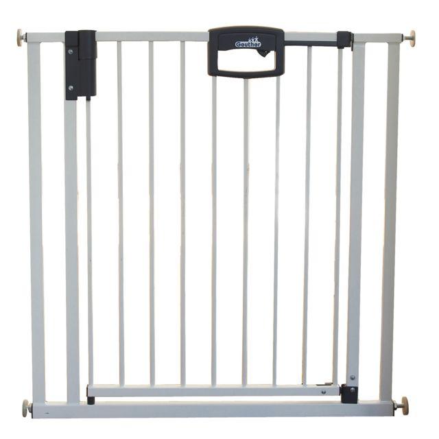 Geuther Barrière De Sécurité Easy Lock Métal Blanc Sans
