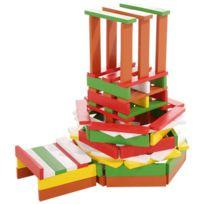 WOOD N PLAY - 100 planchettes de bois multicolores